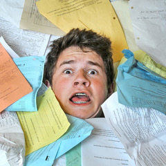Student overwhelmed by paper